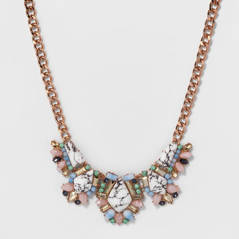 SUGARFIX by BaubleBar Mixed Media Statement Necklace - image 1 of 3