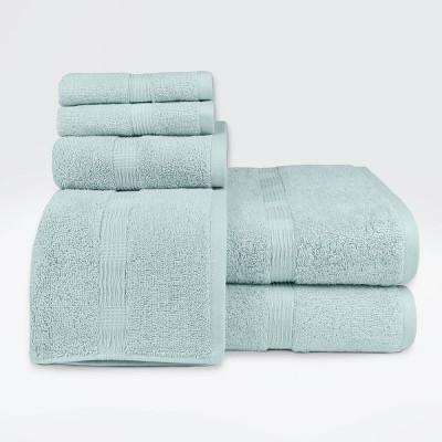6pc Genesis Bath Towel Set Aqua - Loft by Loftex
