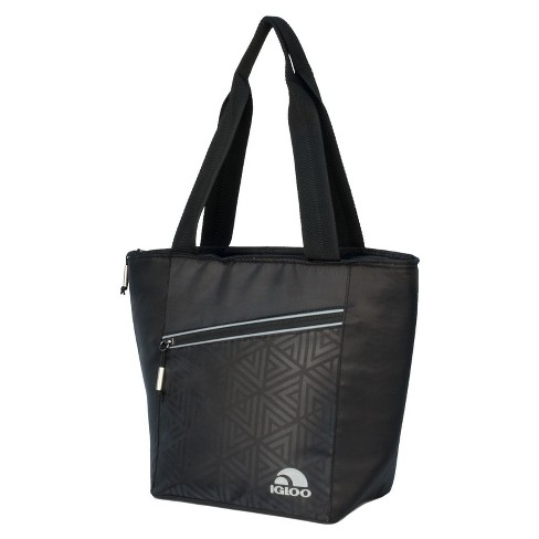 Igloo Balance Cooler  Lunch Tote Cooler Bag 12 Can - Faux Leather Print - image 1 of 4