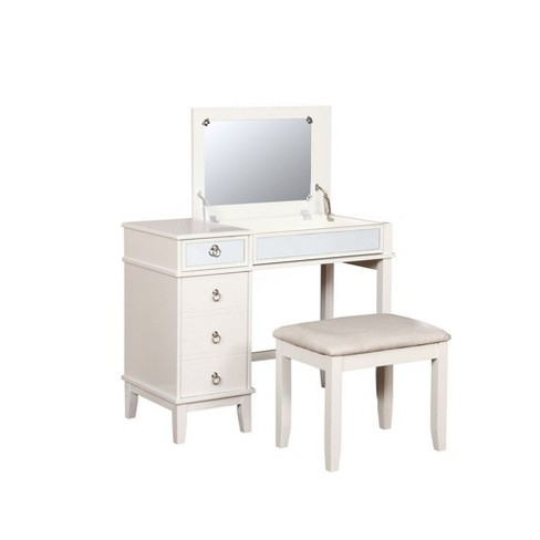 Eva Vanity Set White - Linon - image 1 of 4