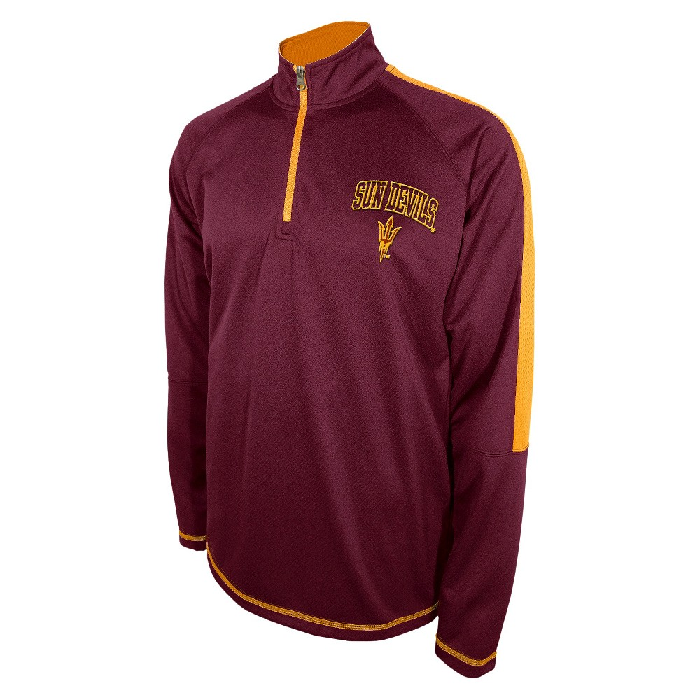 Men's Arizona State Sun Devils Track Jacket - Maroon (Red) L