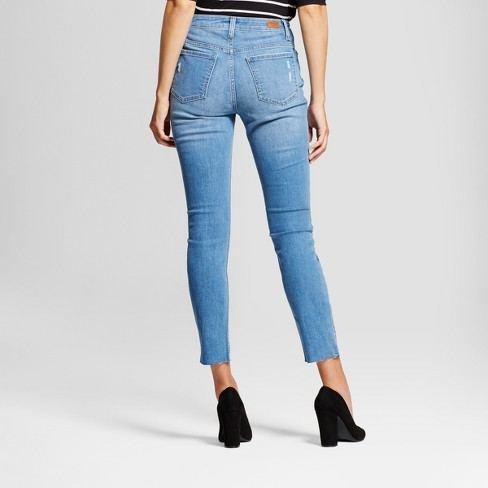 b50d4d5b Women's Modern Fit High Rise Raw Hem Skinny Jeans - Crafted By Lee® : Target