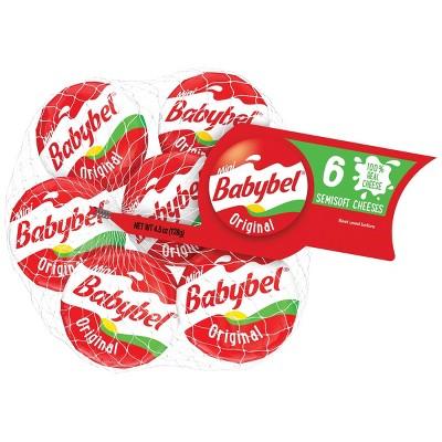 Mini Babybel Original Semisoft Cheeses - 6ct