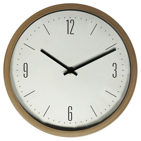 "10"" Wall Clock Oak Finish - Westclox® - image 1 of 2"
