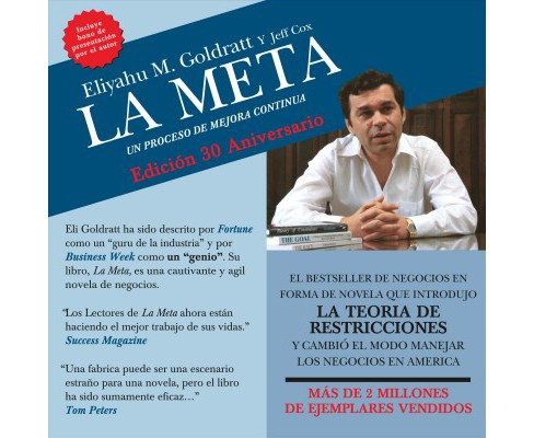 La Meta : Un Proceso De Mejor Continua -  Unabridged by Eliyahu M. Goldratt (CD/Spoken Word) - image 1 of 1