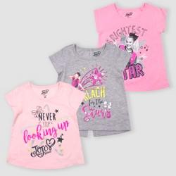 2261cc740 Toddler Girls' Nickelodeon JoJo Siwa 3pk Short Sleeve T-Shirts - Pink/Gray