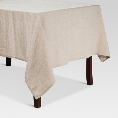 104 x60  Linen Kitchen Textiles Tablecloth Natural - Threshold™