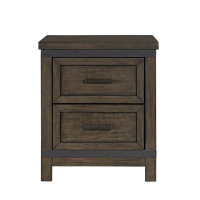 2 Drawer Night Stand in Brown - Liberty Furniture