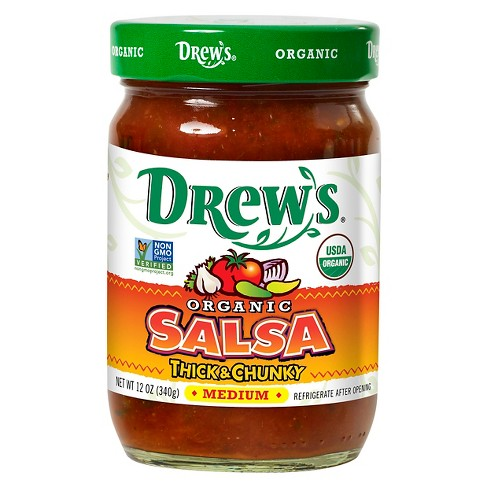 Drew's Organic Medium Thick & Chunky Salsa - 12oz - image 1 of 1