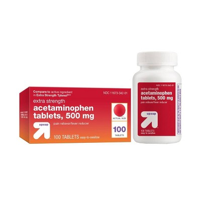 Pain Relievers: up & up Extra Strength Acetaminophen Tablets