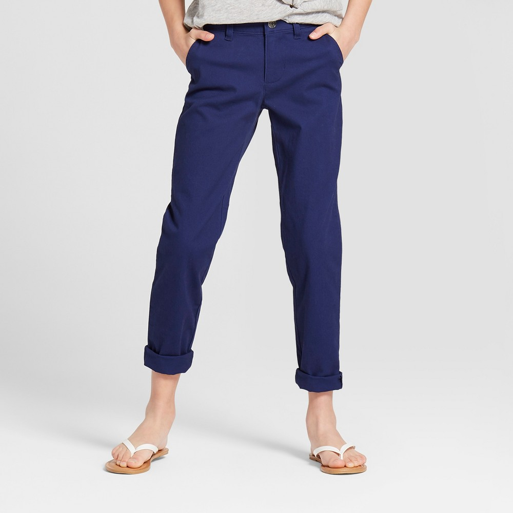 Girls' Twill Pants - Cat & Jack Nightfall Blue 5