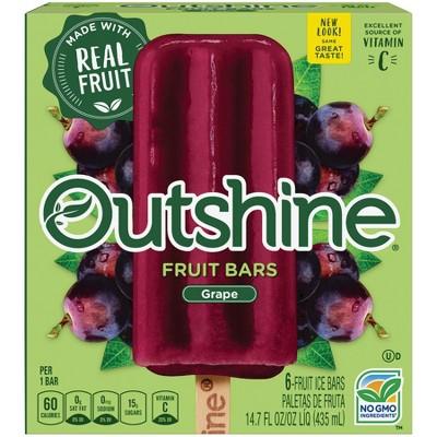 Outshine Grape Frozen Bars - 6ct