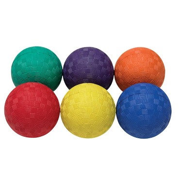 Sportime Smallest Playground Balls, 2-1/2 Inches, Assorted Colors, set of 6