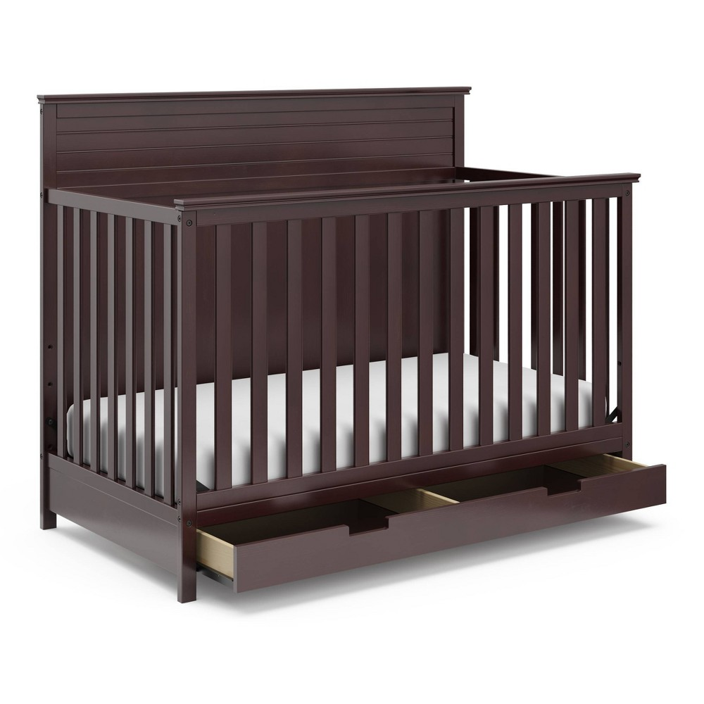 Storkcraft Homestead 4-in-1 Convertible Crib With Drawer - Espresso Compare