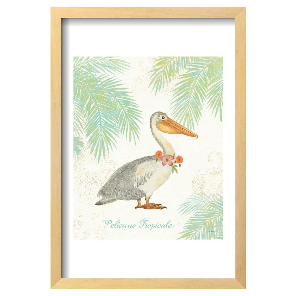 Flamingo Tropicale I by Sue Schlabach Framed Poster 13