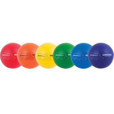 Champion Sports Rhino Skin Dodgeballs, 7 Inches, Assorted Colors, set of 6