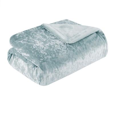 Aqua Crushed Velvet Plush Throw Pillow (50 X60 )
