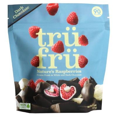 Tru Fru White & Dark Chocolate Frozen Whole Raspberries  - 8oz