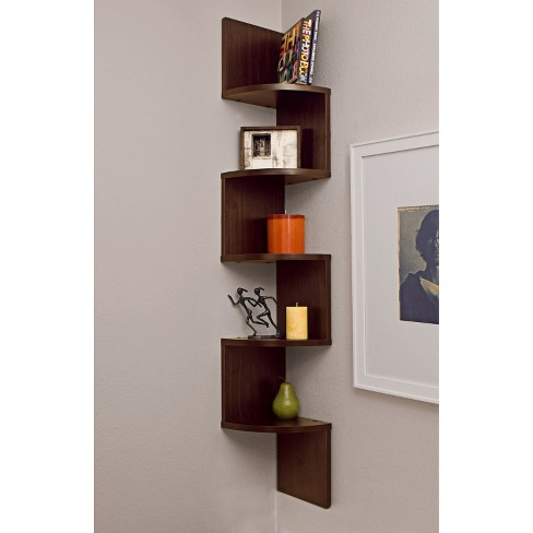 "48.5"" x 7.7"" Zigzag Corner Shelf Walnut - Danya B. - image 1 of 3"