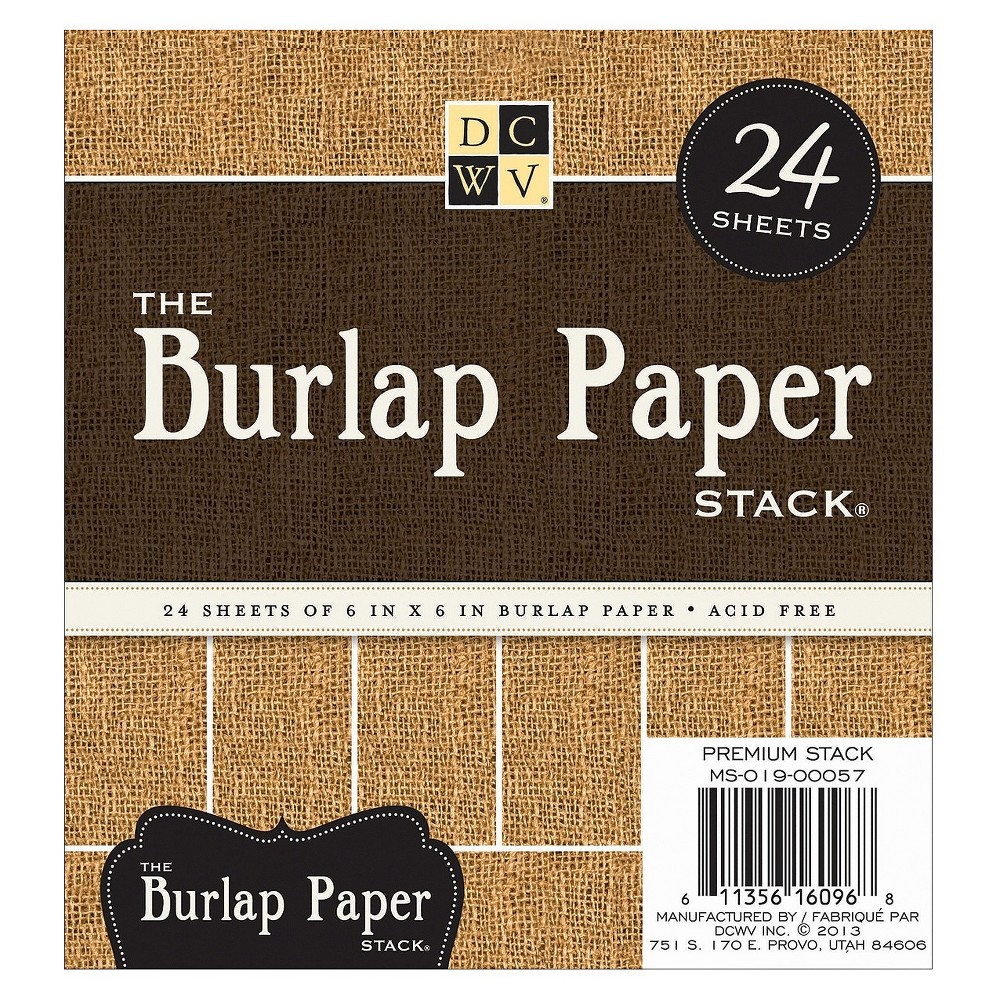 Image of Stack The Burlap Paper 6*6 - 24 sheets