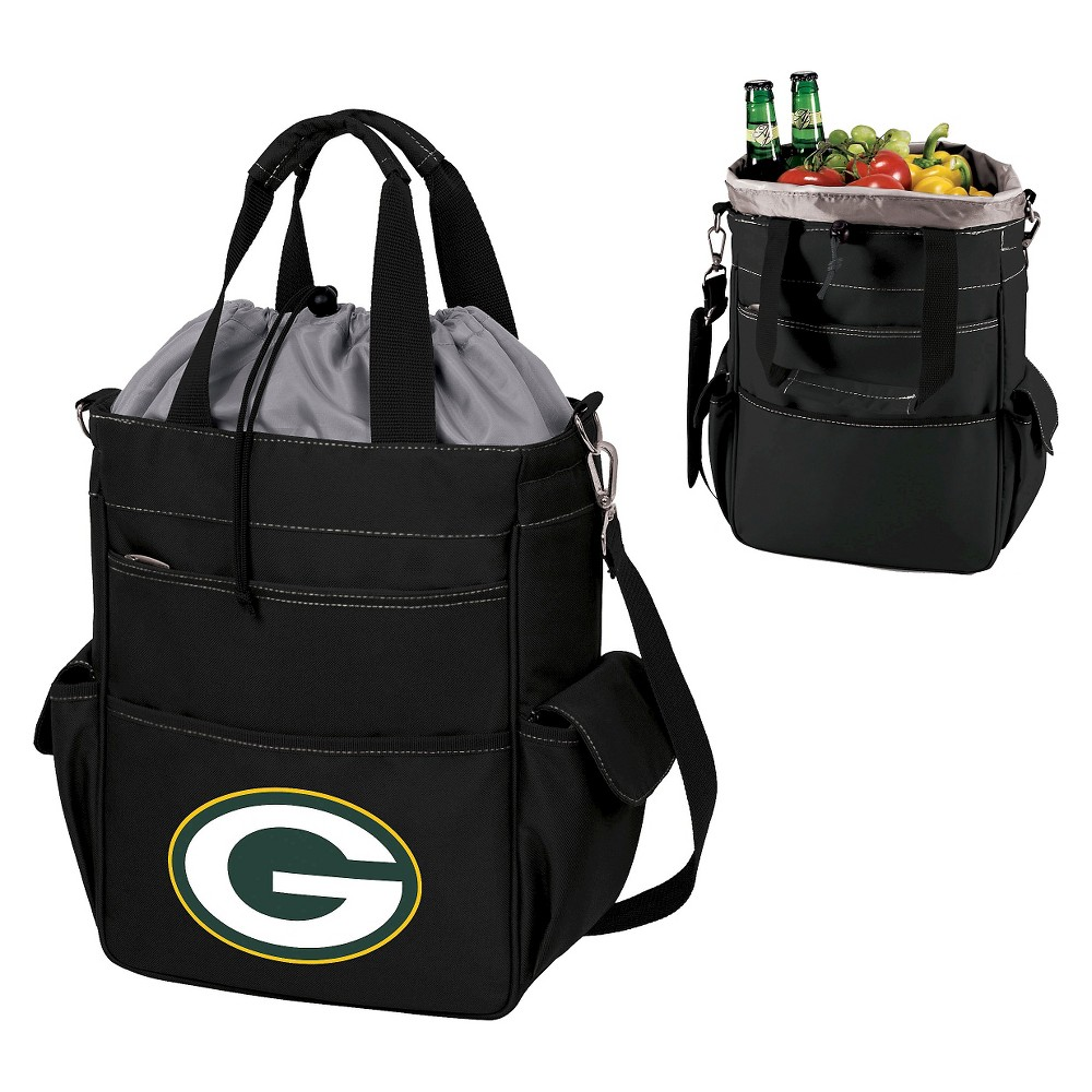 Green Bay Packers Activo Cooler Tote By Picnic Time Black