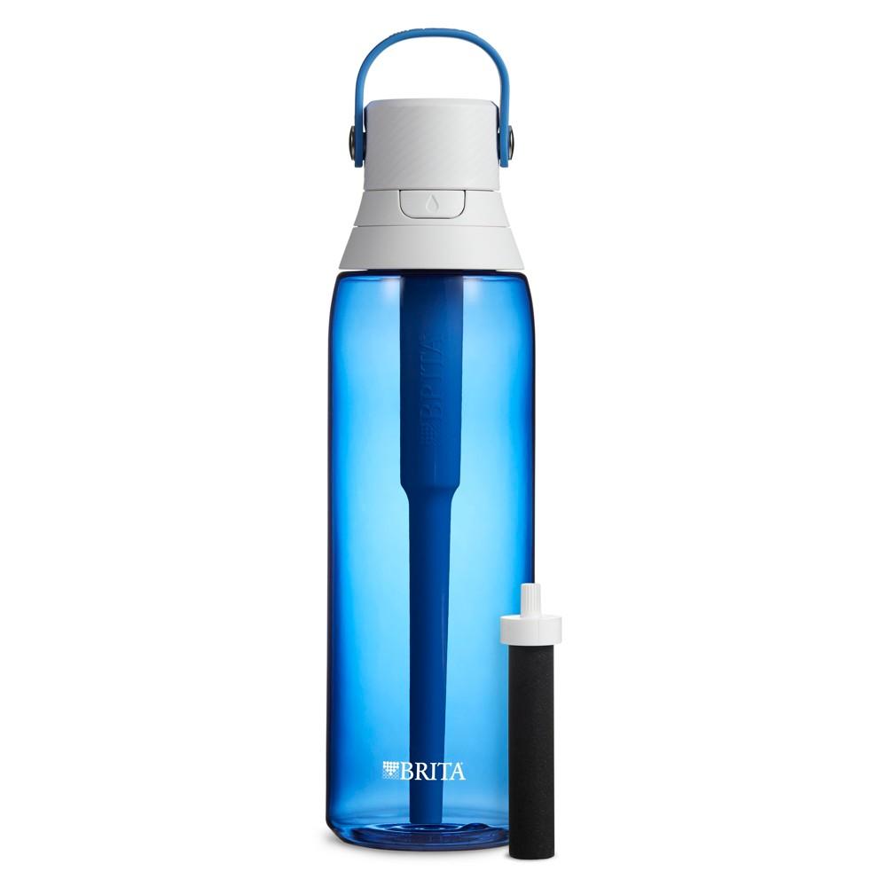 Image of Brita Premium 26oz Filtering Water Bottle with Filter BPA Free - Sapphire, Red