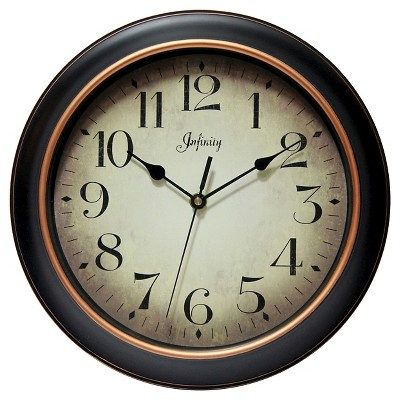 Hanover 12  Round Wall Clock Black/Rose Gold - Infinity Instruments®