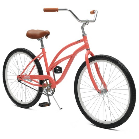 "Critical Cycles Ladies Chatham 1-speed Cruiser Bike- 26"" - Coral - image 1 of 2"