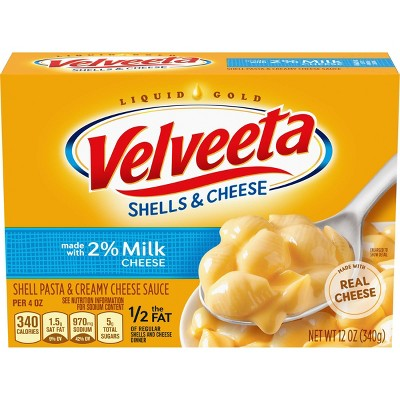 Velveeta Reduced Fat 2% Milk Shells & Cheese 12oz