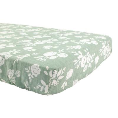Bebe au Lait Muslin Crib Sheet Vintage Floral