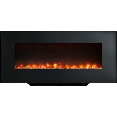 SimpliFire Black Linear Wall Mount Electric Fireplace