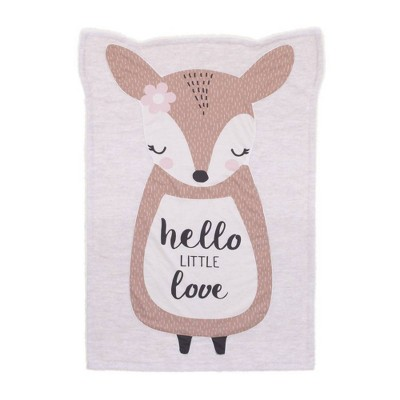 Little Love By Nojo Daisy The Deer Knit Shaped Baby Blanket - Hello Little Love