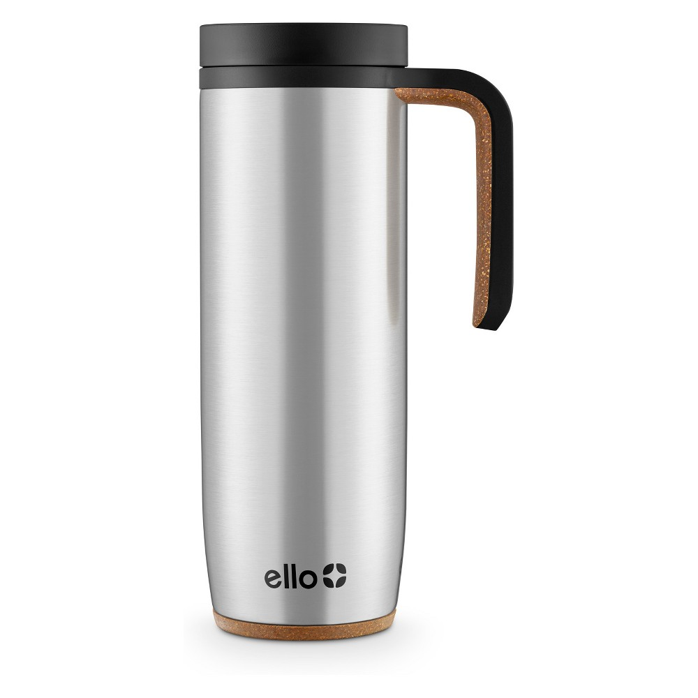 Image of Ello 18oz Magnet Stainless Steel Coffee Travel Mug Gray