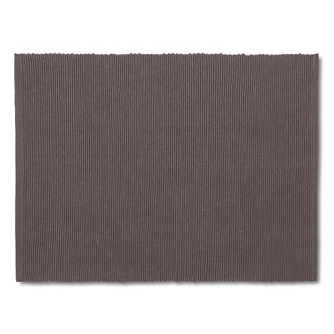 Gray Solid Ribbed Placemat - Room Essentials™ - image 1 of 1