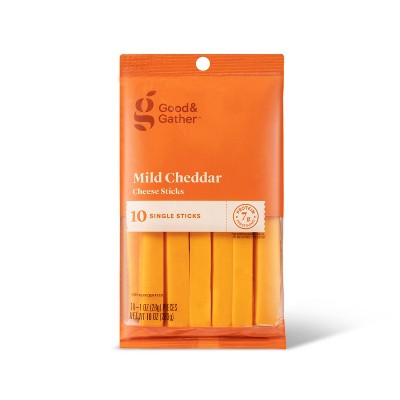 Mild Cheddar Cheese Sticks - 10oz/10pk - Good & Gather™