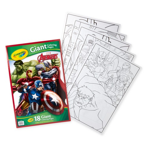 Crayola Avengers Giant Coloring Pages : Target