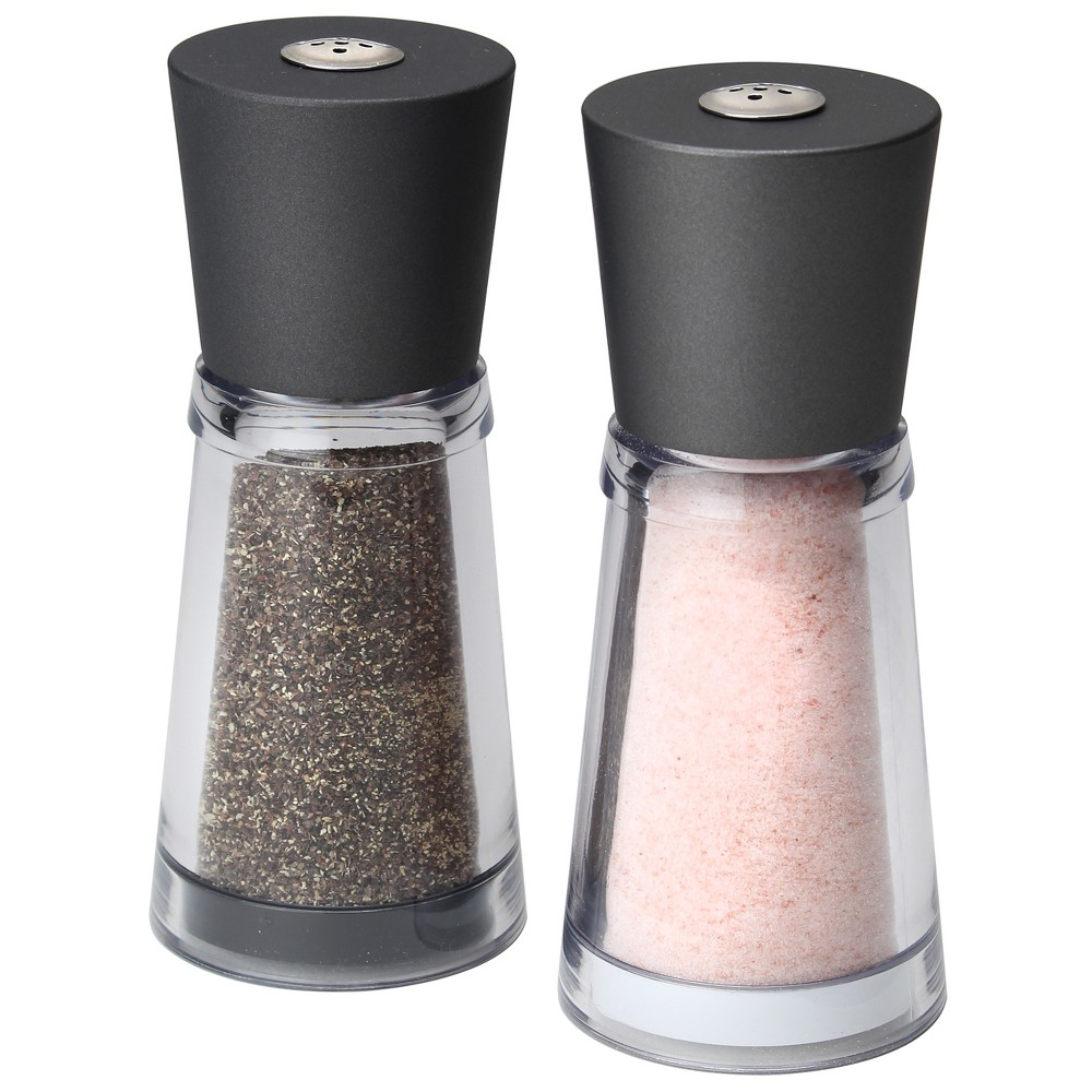 Olde Thompson Salt and Pepper Shaker Set Rhone Pink, Clear