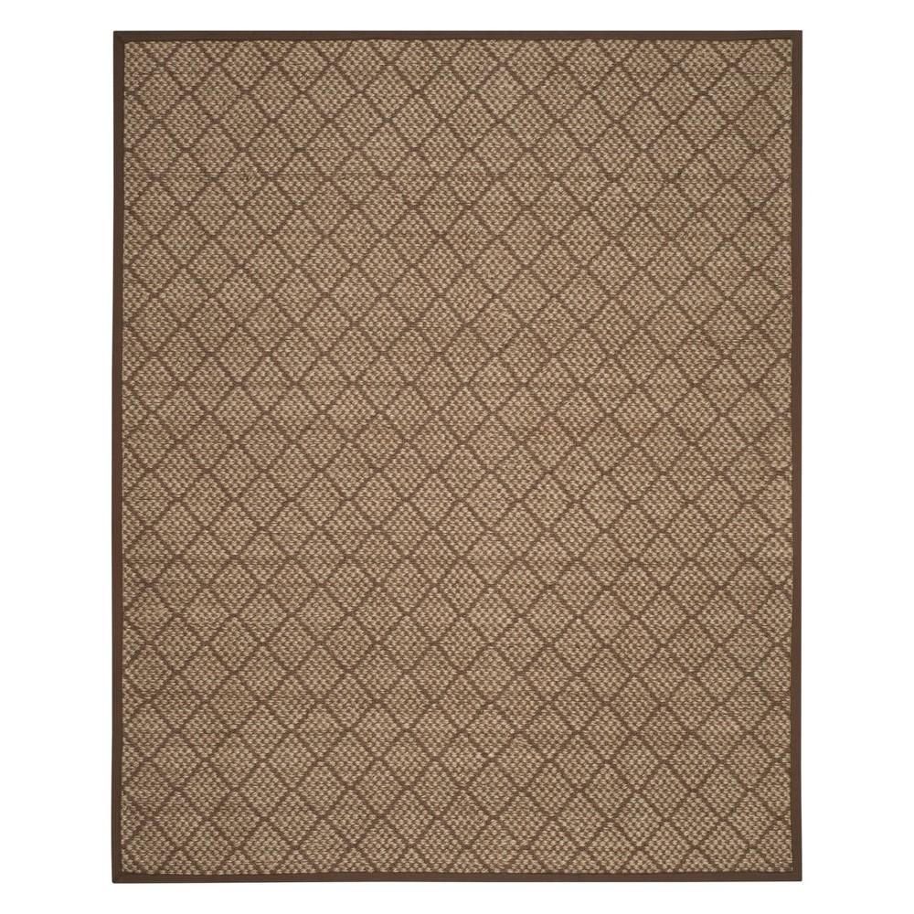 8'X10' Geometric Loomed Area Rug Natural/Brown - Safavieh, White