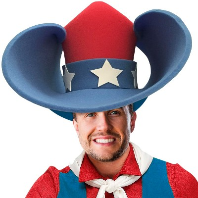 Funky Fresh Patriotic Cowboy Adult Foam Costume Hat