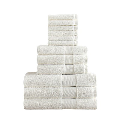 Chloe Bath Towel Set 12pc White - Makroteks