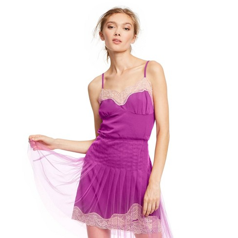 Women's V-Neck Lace Cami - Rodarte for Target Magenta - image 1 of 4