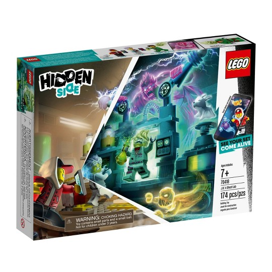 LEGO Hidden Side J.B.'s Ghost Lab 70418 Augmented Reality (AR) Building Kit with Toy Lab 174pc image number null