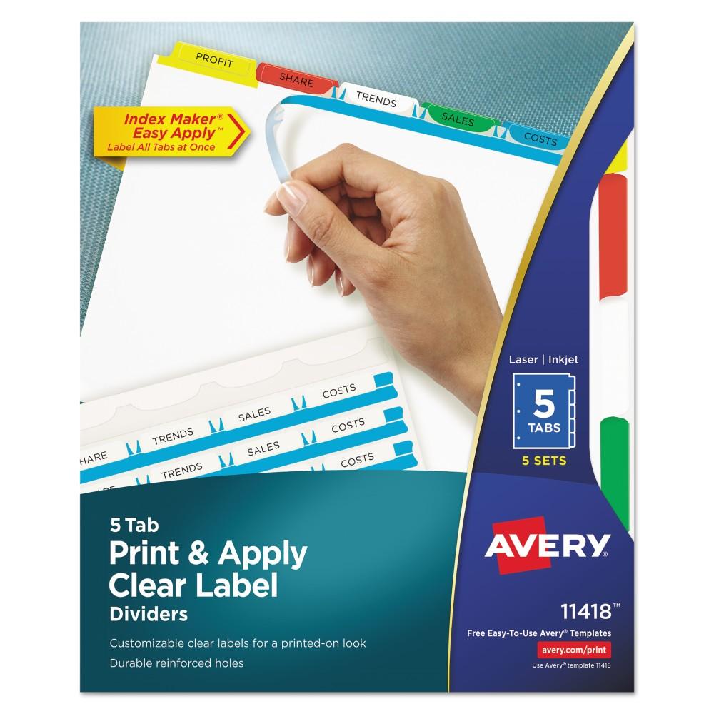 Avery File Divider - White