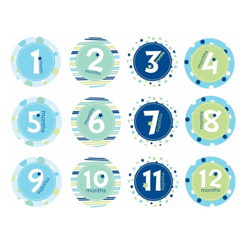 Pearhead Baby Milestone Belly Stickers Boy Target