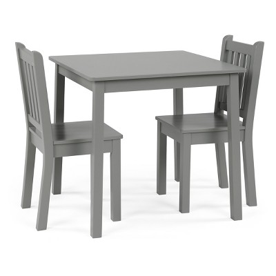 3pc Kids Table and Chair Set Gray - Tot Tutors