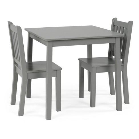 Kids Square Table & 2 Chairs, Large - Gray - Curious Lion - image 1 of 5
