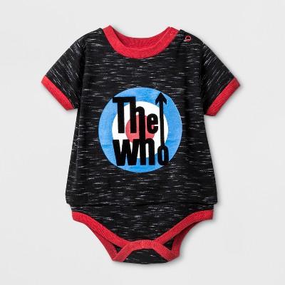 Baby Boys' The Who Short Sleeve Bodysuit - Black 6-9M