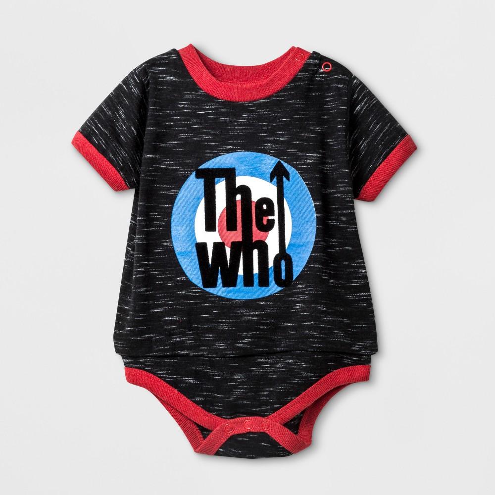 Baby Boys' The Who Short Sleeve Bodysuit - Black 18M
