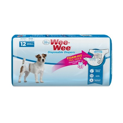 Four Paws Wee-Wee Disposable Dog Diapers - 12ct - S