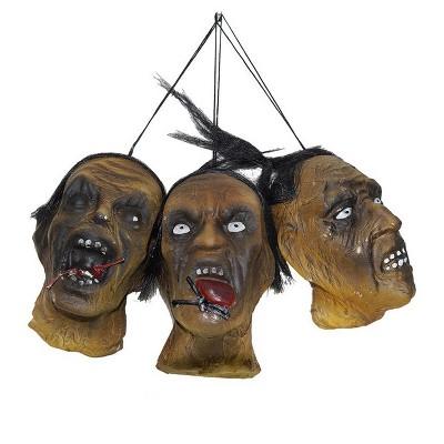 Morbid Shrunken Head Set Halloween Decoration